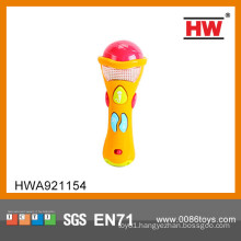 Hot Sale B/O toy baby microphone with music kids karaoke microphone set
