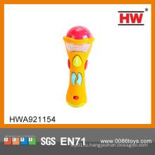 Горячий микрофон младенца игрушки сбывания B / O с комплектом микрофона караоке малышей нот