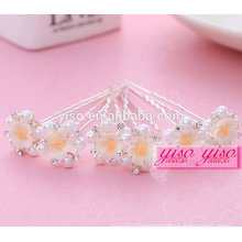 elegant promotional gift ladies floral bride alloy fashion girl hair pin