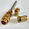 Brass Fitting CNC Turning Machining Parts for Gas Pipe Connector
