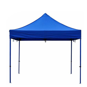 Tenda pieghevole pop-up display commerciale in tessuto blu 420D