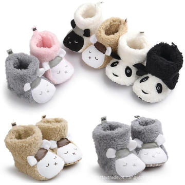 Infantil 0-1years Soft Sole Toddler Animal Modelo Sapatos de Bebê