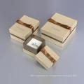 Caja de cartón rígida hecha a mano de la manera para la joyería