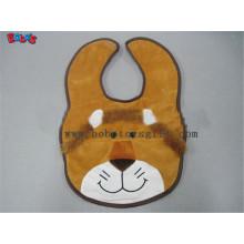 """13""""Cheap Baby Stuff Plush Brown Lion Baby Bibs"""