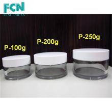 Plastic Cosmetics round Embalagem creme vazio 200g 250g jarra de cosméticos
