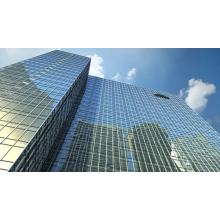 Mur rideau préfabriqué de cadre en acier de large envergure pour le bâtiment de bureau / centre commercial