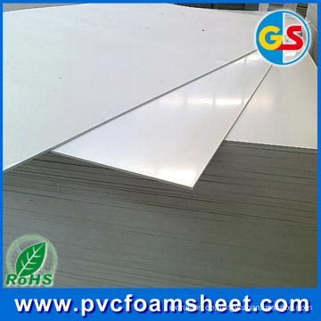 1.22m Schaum PVC-Blatt (reines weißes u. Schwarzes oder anderes buntes) Fabrik