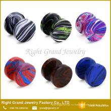 Ассорти смешанный Цвет Анодированной стали круглый поддельные диска подключите Earrins нержавеющей