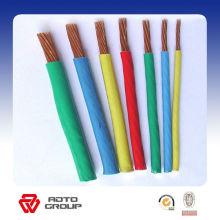China cable de cobre amarillo aislado PVC de alta calidad del alambre de cobre