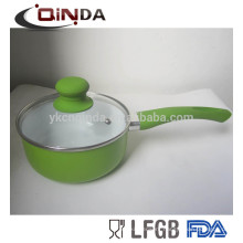 Wholesale small nonstick saucepan and aluminum ceramic cookware with lid milk pan