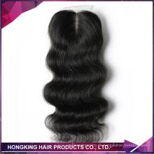 100% unverarbeitete Brasilianische Remy Haarkörperwelle Seide Basisspitze Frontal für verkauf