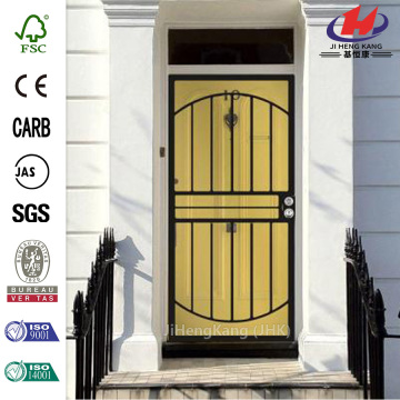 555 Series Vein/Steel Prehung Security Door