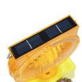 led solar traffic warning flashing barricade light