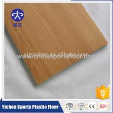 Piso de rollo de PVC de estilo arce para cancha de baloncesto cubierta