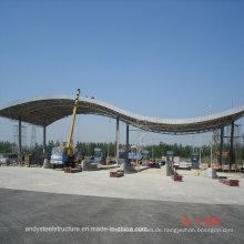 Aluminium Magnesium Mangan Panel & Space Truss Struktur Dachdecker für Mautstation
