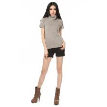 Women′s Turtileneck Sweater in Short Sleeve