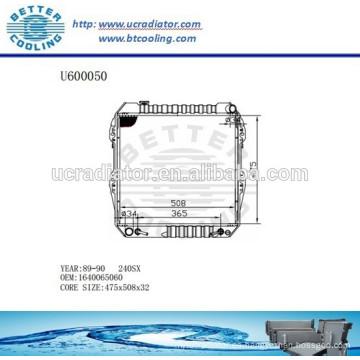 RADIADOR 1640065060 para TOYOTA 89-90 240SX Fabricante y venta directa!
