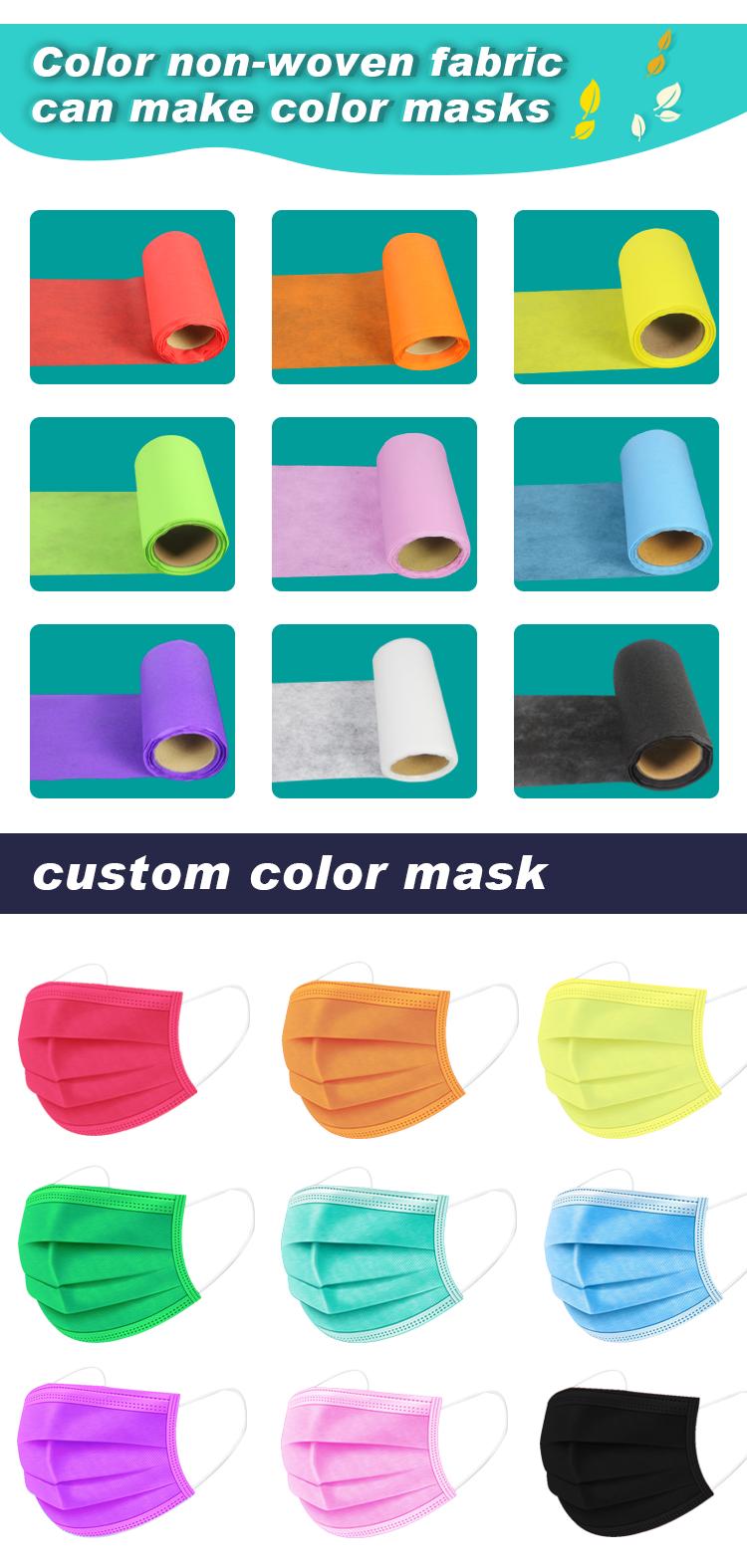 color non-wowen fabric can make color masks