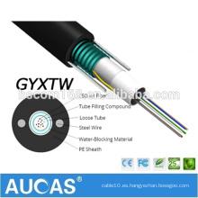 GYXTW suelta el cable óptico de la fibra óptica de la antena del tubo / el metro óptico subterráneo subterráneo del solo multi 12