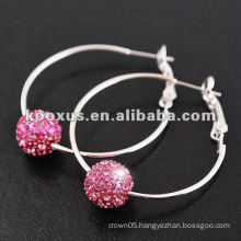 2014 fashion Pave Bead Shamballa Earring Wholesale