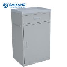 SKS005 Mobile Hospital Steel Bedside Cabinets With Drawer