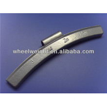 Zinc OZ clip on wheel weight for alloy rims
