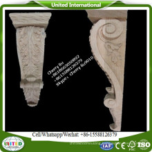 hand carved corbels