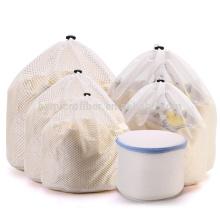 Usine personnalisée ménage pas cher sac à linge en maille