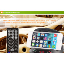 Bluetooth FM Handsfree Transmitter Phone Mount for Car