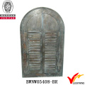 Window Shutter Design Carved Antique Wooden Mirror Frame