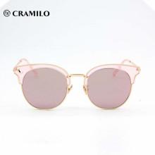 neueste Mode rosa Dame uv400 Sonnenbrillen beliebt