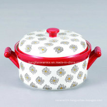 Custom with Lid Ceramic Bakeware Tureen