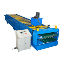 customized double layer corrugated roll forming machine