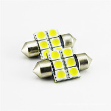 High quality 12V 24V 31mm 6pcs SMD chip 5050 color changing led interior car light