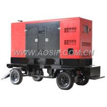 AOSIF China 3 phase trailer diesel generator