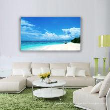 Home Decor Blue Sky e Sea Beach Impressão em Canvas