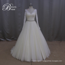 Perler lourd modèle Tulle robes de mariée a-line