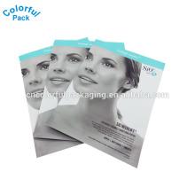 Bolsa de embalaje para máscara facial / bolsa de papel de aluminio para máscara facial / embalaje de máscara facial