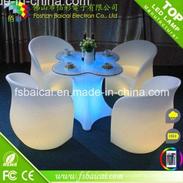 Mobília do jardim do diodo emissor de luz / mobília exterior do diodo emissor de luz / tabela do diodo emissor de luz e venda quente da cadeira
