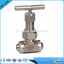 Stainless high pressure air precision needle valve