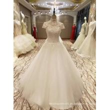 Neue Ankunft 2017 Spitzenprinzessin-Hochzeits-Fußboden-Längen-Hochzeits-Kleider