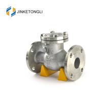 JKTLPC112 válvula de retención de plomería con bridas de acero suave de carbono