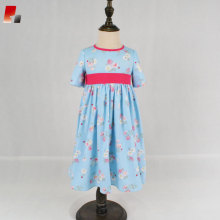 spring girls dress twirly blue floral dresses