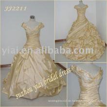 Einzigartiger Ballart glänzender Hochzeitskleidentwerfer JJ2211