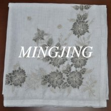 HJ-027 White embroidery jacquard scarf