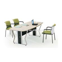 Table de réunion de bureau à mélamine bon marché avec cadre en acier