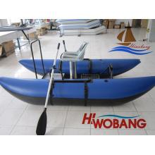 Barco de pesca inflável azul escuro de estilo popular de 2,7 m