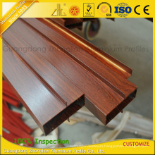 6063-T5 Wooden Grain Aluminium Profiles for Window and Door Decoration