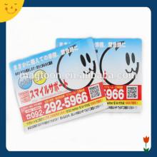 Business item card fridge magnet pour la publicité