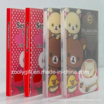 Personalizar álbumes de fotos PP / PVC impresos con caja de plástico transparente